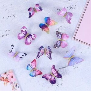 10 PCS BUTTERFLY HAIR CLIP Hairpin Accessories Girl Women Bridle Costume Beauty