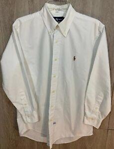 Ralph Lauren Button Down Shirt White  Size 15 1/2-33