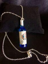 Blue Bottle Pendant Charm Necklace