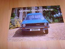 FOLLETO de auto 1979 Morris Van y recoger