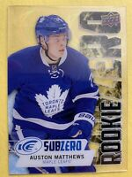 2016-17 Upper Deck Ice Subzero Rookie #SZ-61 Auston Matthews Toronto Acetate RC