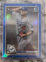 2020 Bowman Chrome Brusdar Graterol Blue Refractor Rookie Card /150!! 🔥🔥