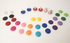 16mm shiny button style stud earrings - 13 fab colour options - Pierced or clip