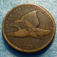 1858  Flying Eagle  Cent  Coin  #V58 SL    Better Grade