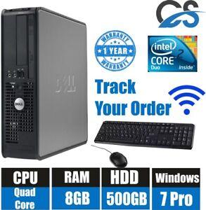 WIN 7 PRO FAST DELL OPTIPLEX 780 SSF DESKTOP PC COMPUTER INTEL CORE 2 QUAD 8GB