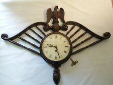 Vintage Welby 8 Day Wall Clock Key Wind Unique Eagle Design 1940's German Made