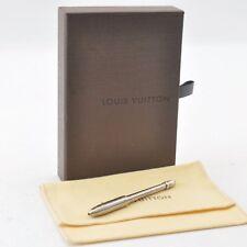 Authentic  Louis Vuitton Ballpoint Pen Stylo Agenda Silver #S4846 E