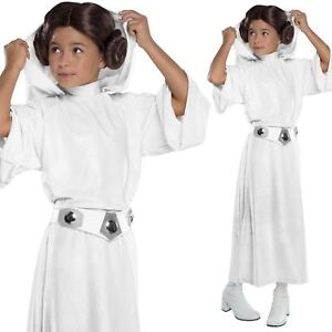 Girls Deluxe Princess Leia Star Wars Force Awakens Childs Fancy Dress Costume