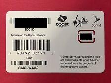 NEW Nano SIM Card - Sprint, Boost, Virgin, Ring Plus - SIMGLW436C/ CZ2134LWC