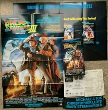 Back To The Future 3 Movie Store Promotional POP Kit Posters Hanger Flyers RARE!