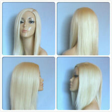 HIGH HEAT RESISTANT LONG SMOOTH LAYERS PALE BLONDE LADY WOMENS DAILY FULL WIG UK