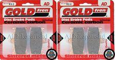 KAWASAKI ZZR 600 D1-D3 ZZR600 > SINTERED HH FRONT BRAKE PADS (2 pair) *GOLDFREN*