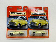 MATCHBOX 1941 CADILLAC SERIES 62 CONVERTIBLE COUPE COLLECTOR NO. 34/100 LOT OF 2