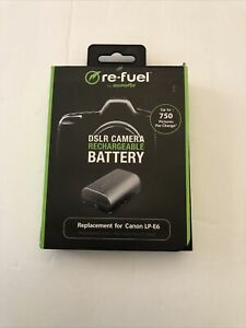 Digipower ReFuel Rechargeable Lithium-Ion Replacement Battery for Canon LP-E6