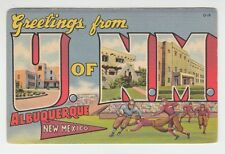[65372] Old Large Letter Postcard Greetings From University of New Mexico