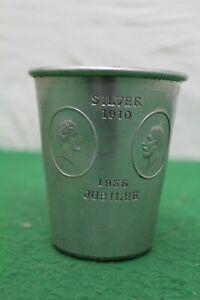 George V Silver Jubilee Commemorative Tin Cup, N.C.J.Ltd Stratford On Avon