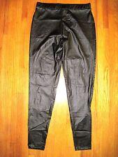 Xhilaration Black Leather Look Leggings Size Medium New