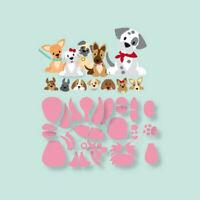 Stanzschablone Hund Dalmatiner Bulldogge Weihnachts Geburtstag Hochzeit Karte