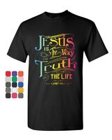 Jesus Is the Way T-Shirt Truth Life Bible Religion God Lord Pray Mens Tee Shirt