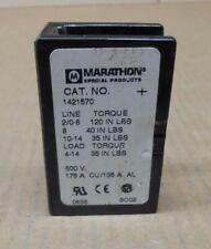 1 New Marathon 1421570 Power Distribution Block 175a 175 Amp 1p 600v 2 Avail