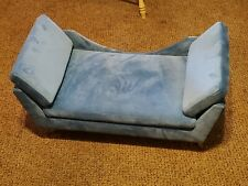 Pet Plush Wood Sofa Bed Dog Luxury Seat Chair Cat Suede Removable Cover Washable
