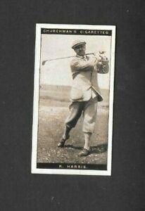 "CHURCHMAN 1927 ( GOLF ) TYPE CARD """"  # 15 ROBERT HARRIS - FAMOUS GOLFERS  """""