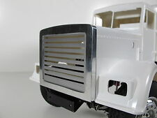Aluminum Front Grill Mesh Cover Guard Plate Tamiya 1/14 Semi King Grand Hauler