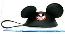Disney Parks Mickey Mouse Club Ears Zipper Wristlet Clutch Purse Handbag Icon Vt