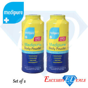 2 x 200g Medipure Medicated Body Powder 100% Talc Free Helps Irritated Skin