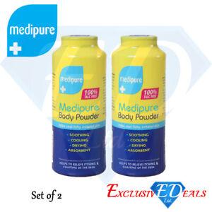 2 x 200g Medipure Medicated Body Powder 100% Talc Free Helps Irritated Skin