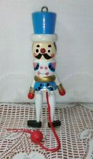 Vintage Wooden Pull String Jumping Toy Soldier Christmas Ornament