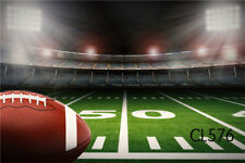 Football Field Vinyl Backdrop Photography Studio Props Photo Background 5X3FT