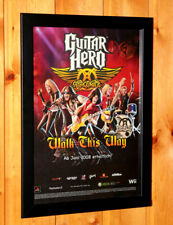Guitar Hero Aerosmith Rare Small Poster / Ad Page Framed PS2 PS3 Xbox 360 Wii