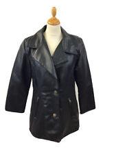 Women's Vintage Alta Moda Leather Jacket Size S Black