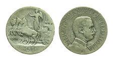 pcc1414_2) Italia Vittorio Emanuele III (1900-1943) lire 1 Quadriga Veloce 1908