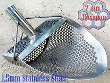 *HEXAGON 7* Beach Sand Scoop Metal Detector Hunting Tool Stainless Steel by CooB