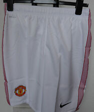 MANCHESTER UNITED 2012/13 BOYS HOME SHORTS BY NIKE SIZE EXTRA LARGE BOYS NEW