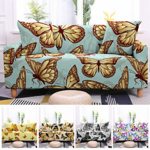 2/3/4 Seaters Butterfly Stretch Slipcover Sofa Cover Chair Protector Home Decor