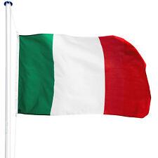 Asta alluminio 650cm con bandiera Italia 150x90cm corda e piantone set giardino