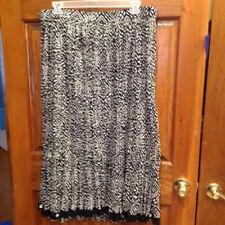ced0f1e9d9086 Liz   Me Skirt Broomstick Size 1X Black White Elastic Waist