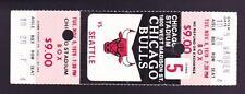 Nov 6 1979 Chicago Bulls vs Seattle Supersonics Ticket Stub Sikma Johnson Theus