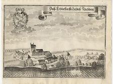 Schloß Kirchberg (bei Rottenburg a.d. Laaber).- Kupferstich/Wening, 1750