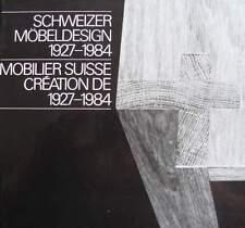 LIVRE/BOOK : MOBILIER SUISSE 1927-84/FURNITURE IN SWITZERLAND (design, art deco