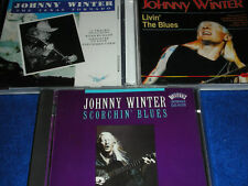 3 CD de JOHNNY WINTER The Texas Tornado SCORCHIN' living the blues METAL MUSIC