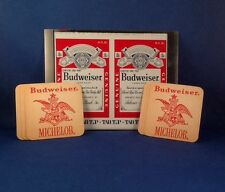 Vintage Proof Budweiser Tab Top Flat unrolled 16oz Beer Can Bud/Michelob coaster