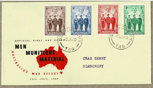 Australia 1940 AIF Munitions FDC Cover Unsealed VF+