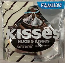 NEW HERSHEY'S KISSES & HUGS MILK CHOCOLATE & WHITE CREME FAMILY PACK 15.6 OZ BAG