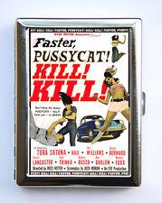 Faster Pussycat Kill Kill Cigarette Case Wallet Business Card Holder rock n roll
