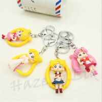 """1 Pcs Anime Sailor Moon Caractère 6cm / 2.4"""" Figure Porte-clés Cadeau Mignon Fun"""