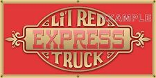 DODGE LIL RED TRUCK EXPRESS EMBLEM REMAKE PRINTED BANNER GARAGE ART MURAL 2 X 4